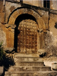 JUST AROUND THE CORNER: Old portal in Tortora old Town, can you see the stars?