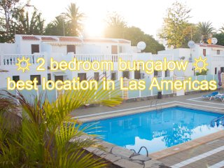 2 bedroom bungalow, best location in Las Americas!, Playa de las Américas