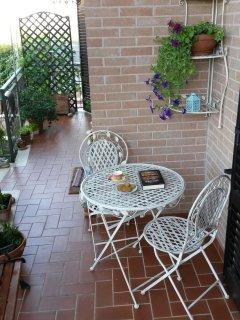 Angolo di relax affacciati al giardino