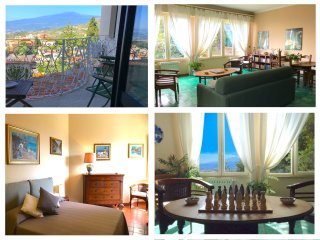 CASA MARGOT Etna & Sea view. Parking & wi-fi, Taormina
