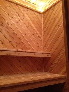 Cedar inside the sauna