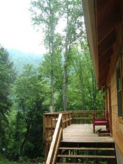 Big Laurel Creekside Cabin - Wonderful Mountain Chalet, all wood, hot tub