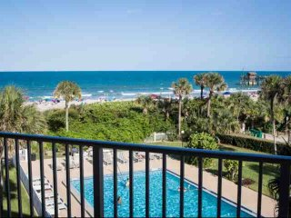 Direct Ocean Views from this Updated Condo with Pool, Near Dining & Attractions, Cocoa Beach