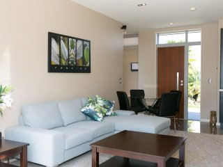 two bedroom unit living and dining area