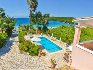 Avlaki Beach House,a stylish villa,opening onto extraordinary beach