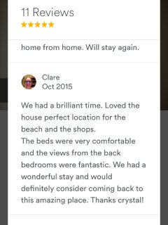 AirBnB reviews