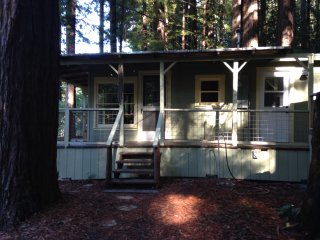 Cabin Compound on the Creek in the Redwoods