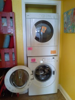 Full-size HE washer and dryer