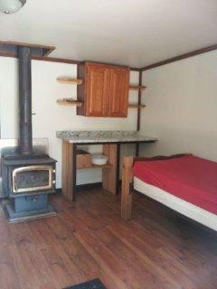 Inside prep area in cabin 2