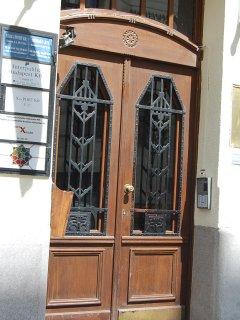 the 110 yo building front door