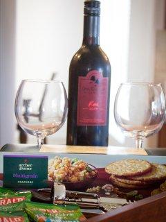 Local wine and treats