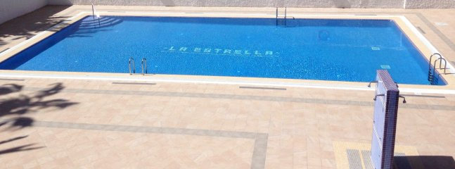 Pool is cleaned every day.