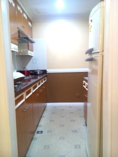 Wide Kitchen to cook whenever you misses your home cooked meals. Refrigerators, Burners, Microwave