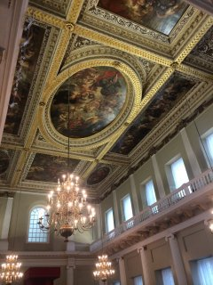 The Banqueting Hall on Whitehall. Scene of the execution of King Charles I.