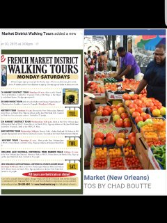 Visit the French market - where foods - fresh or cooked r sold, local crafts, retail and more