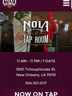 NOLA Brewery visit and receive a tour and history and sample