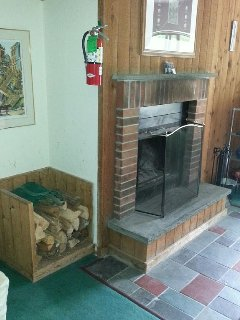 Fire place.  Free dry fire wood provided.