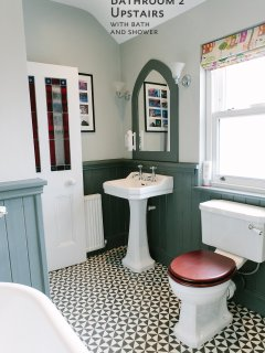 Bathroom Upstairs with bath and shower