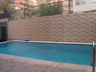 Studio G1 Gueliz Marrakech avec piscine, Jacuzzi