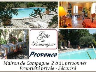 Maison de campagne avec piscine 2 à 11 personnes, Aubignan