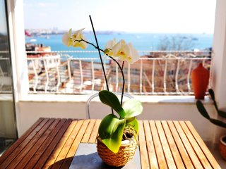 BREATHTAKING SEA VIEW APT with TERRACE in TAKSIM