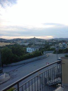 vista dal balcone sulla Basilica Santuario di Loreto