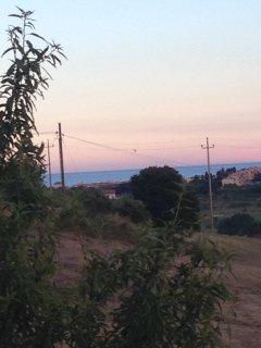 vista dal balcone sul mare di Porto Recanati sud