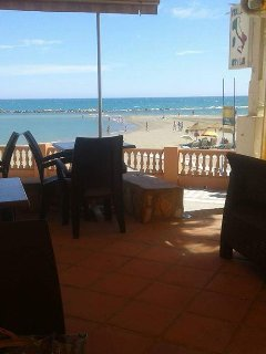 View from a restaurant Local beach short walk