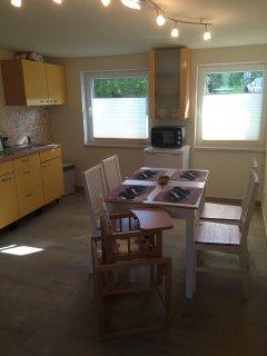 Küchenbereich der Wohnküche
