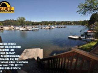Lakefront 6Bdrms Slps13 Max15 Dock WIFI NrYosemite, Groveland