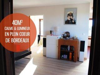 T2 40m² Chartrons, lumineux, centre ville, calme, Bordéus