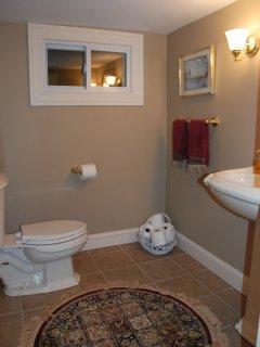 half bath lower level