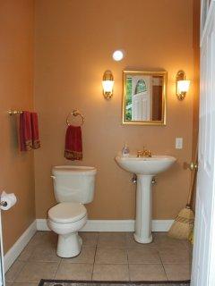 Full bathroom by pool