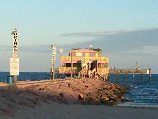 61st street fishing pier right across the street