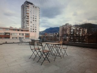 Sunny rooftop apartment and terrace, Sarajevo