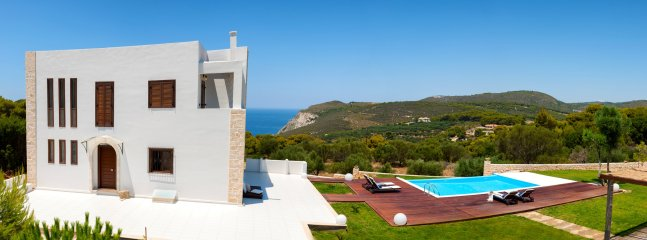 A panoramic view of the villa