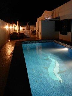 well lit for evening swim
