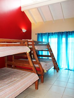 Bedroom 3 equipped with two bunk beds. Ideal for kids.