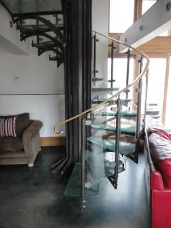 Spiral staircase Harriet's Cottage