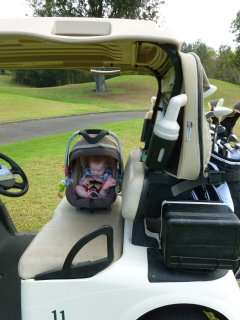 Golfing with children at Makalei Golf Club