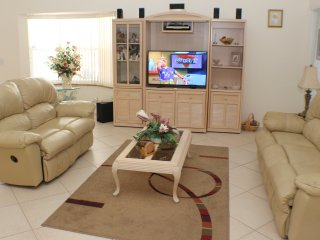 Lounge area with 'Smart TV'
