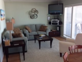 Ocean view Living room and dining area that seats 8
