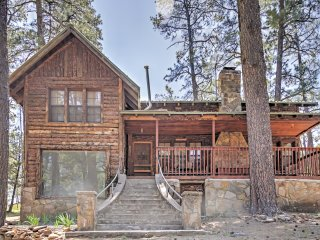 New Listing! 'Lookout Mountain Cabin' 4BR Ruidoso Cabin w/Wifi, 2 Stone Fireplaces & Grill - Close Proximity to Skiing, Shopping, Restaurants & More!