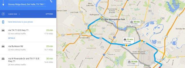 Zilker Metropolitan Park - 14.4 miles