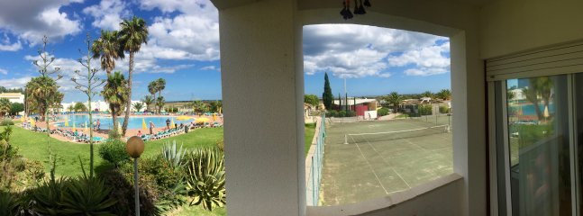 the view from the balcony, see the sea in the back!?