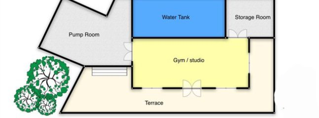 Lower floor with Sea views from air conditioned Gym