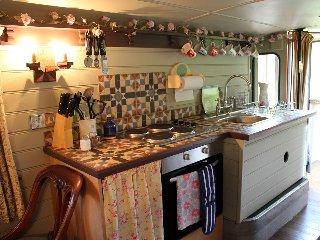 A neat kitchen area