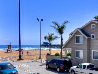 Modern Condo One House to Beach & Pier with Ocean Views, AC, Parking & More!