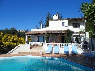 Belle Villa piscine clim wifi jardin vue splendide, Nice