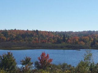 Beautiful view overlooking Furnace Lake in the fall
